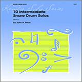 John H. Beck 10 Intermediate Snare Drum Solos Sheet Music and Printable PDF Score   SKU 124886