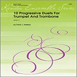 Halferty 10 Progressive Duets For Trumpet And Trombone Sheet Music and Printable PDF Score | SKU 124804