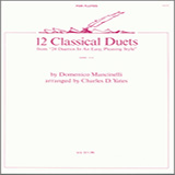 Charles Yates 12 Classical Duets (from 24 Duettos In An Easy, Pleasing Style) Sheet Music and Printable PDF Score | SKU 404471