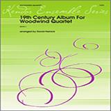 David Heinick 19th Century Album For Woodwind Quartet - 1st Bb Clarinet Sheet Music and Printable PDF Score | SKU 340840
