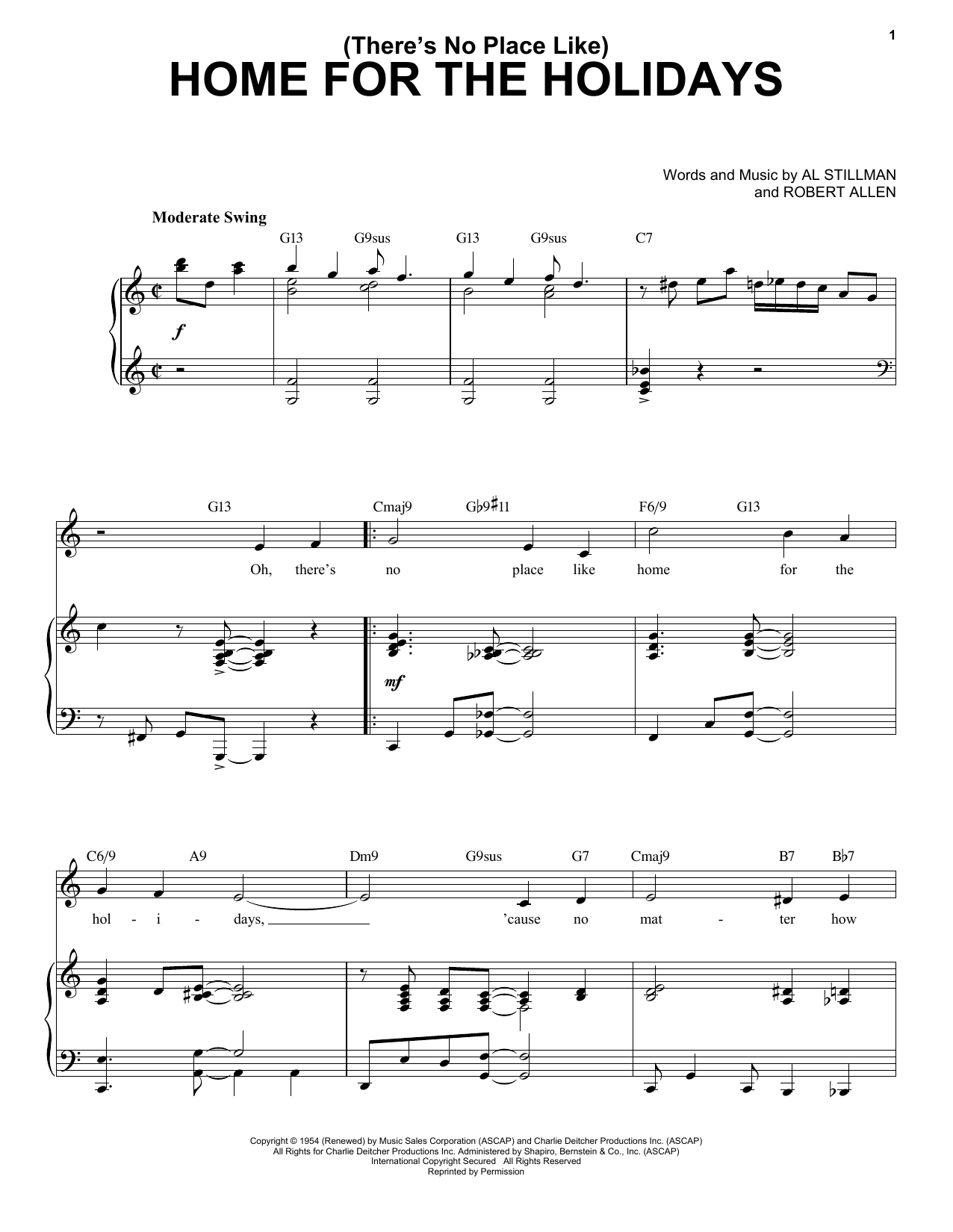 Perry Como (There's No Place Like) Home For The Holidays [Jazz Version] (arr. Brent Edstrom) sheet music notes printable PDF score