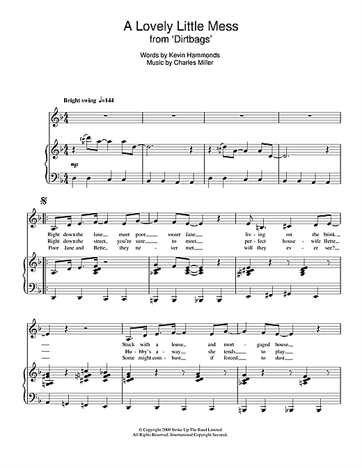 Charles Miller & Kevin Hammonds A Lovely Little Mess (from Dirtbags) sheet music notes printable PDF score