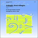 Harry R. Gee Adagio And Allegro (From Sonata In C Minor) - Solo Eb Alto Saxophone Sheet Music and Printable PDF Score   SKU 336865