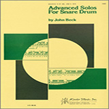 John H. Beck Advanced Solos For Snare Drum Sheet Music and Printable PDF Score   SKU 124877