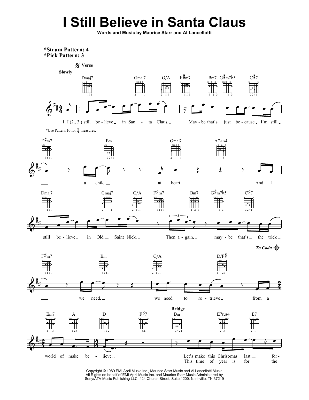 Al Lancellotti I Still Believe In Santa Claus sheet music notes and chords. Download Printable PDF.