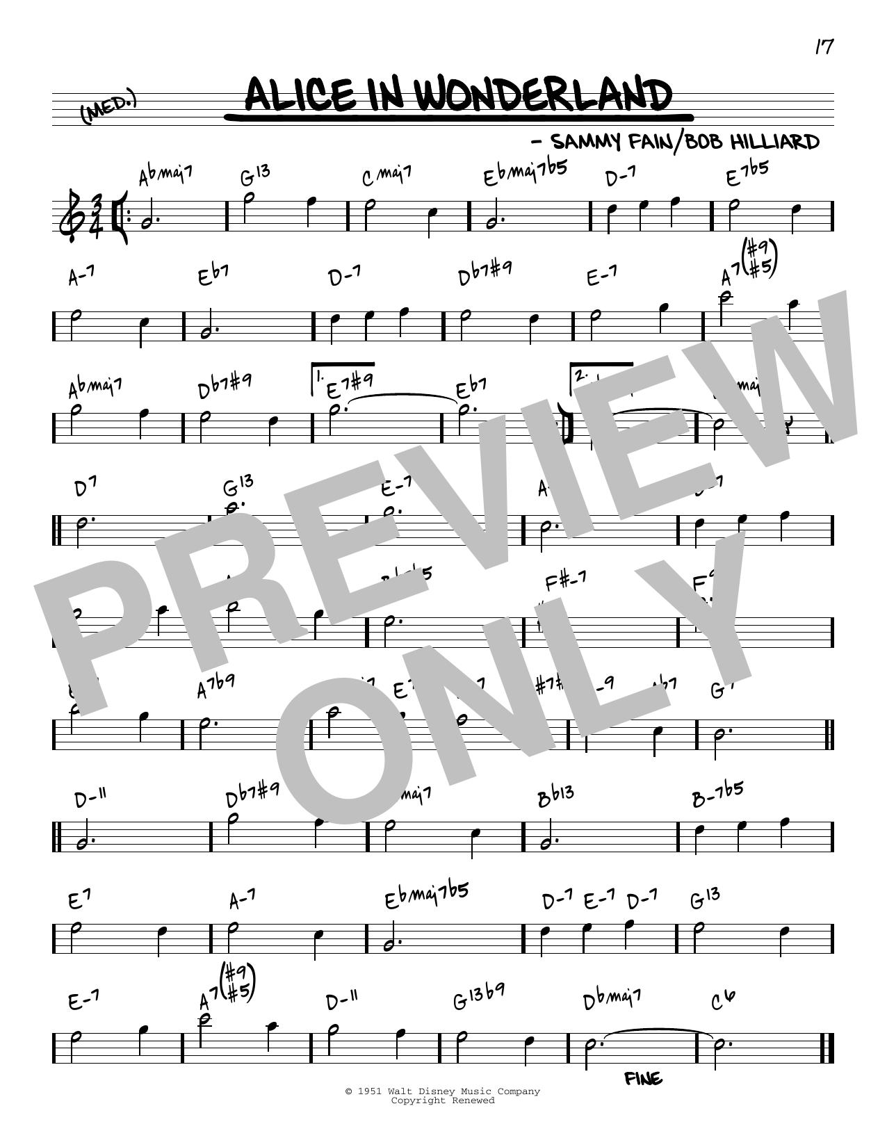 Bill Evans Alice In Wonderland [Reharmonized version] (arr. Jack Grassel) sheet music notes printable PDF score