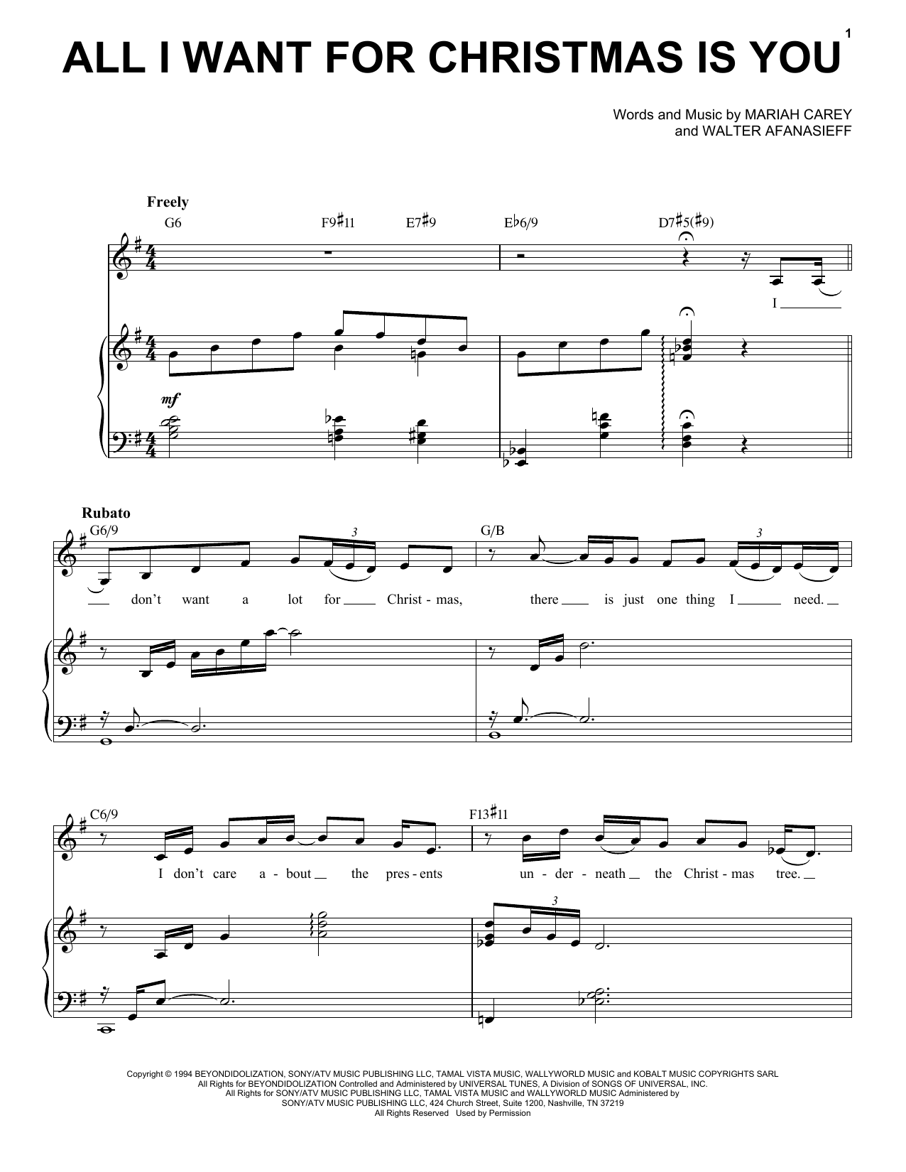 Mariah Carey All I Want For Christmas Is You [Jazz Version] (arr. Brent Edstrom) sheet music notes printable PDF score