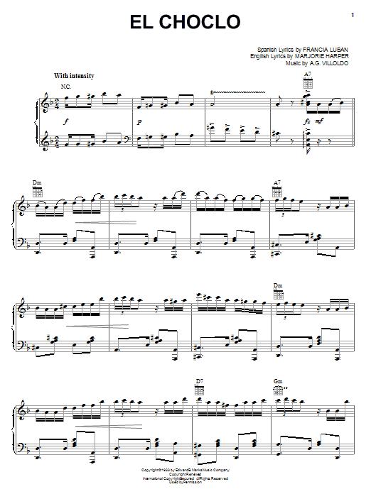 Angel Villoldo El Choclo sheet music notes and chords. Download Printable PDF.