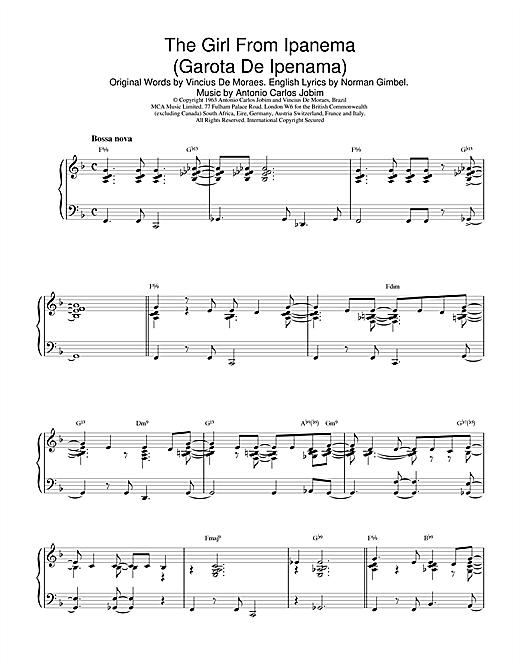 Antonio Carlos Jobim The Girl From Ipanema (Garota De Ipanema) sheet music notes printable PDF score