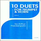 Arthur Frackenpohl 10 Duets For Trumpet And Horn Sheet Music and Printable PDF Score | SKU 124833