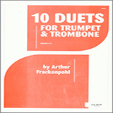 Arthur Frackenpohl 10 Duets For Trumpet And Trombone Sheet Music and Printable PDF Score | SKU 124834