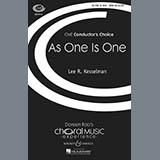 Lee R. Kesselman As One Is One Sheet Music and Printable PDF Score | SKU 71417