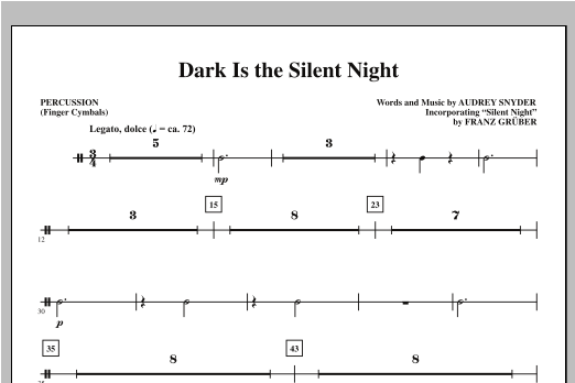 Audrey Snyder Dark Is the Silent Night - Percussion sheet music notes printable PDF score