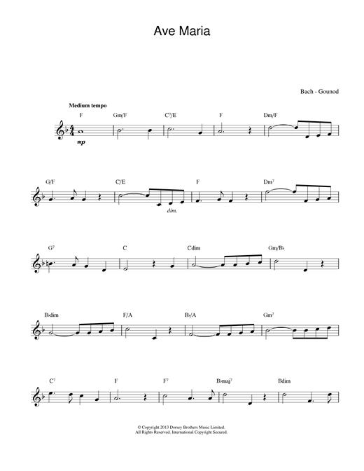 Johann Sebastian Bach and Charles Gounod Ave Maria sheet music notes printable PDF score