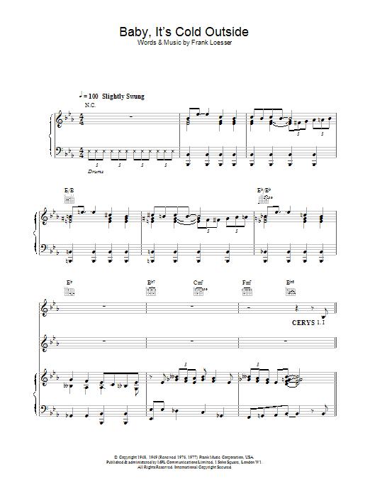 Tom Jones Baby, It's Cold Outside sheet music notes printable PDF score