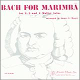 James Moore Bach For Marimba Sheet Music and Printable PDF Score   SKU 371430