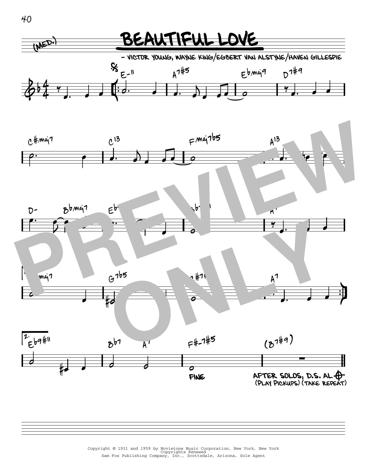 Bill Evans Beautiful Love [Reharmonized version] (arr. Jack Grassel) sheet music notes printable PDF score