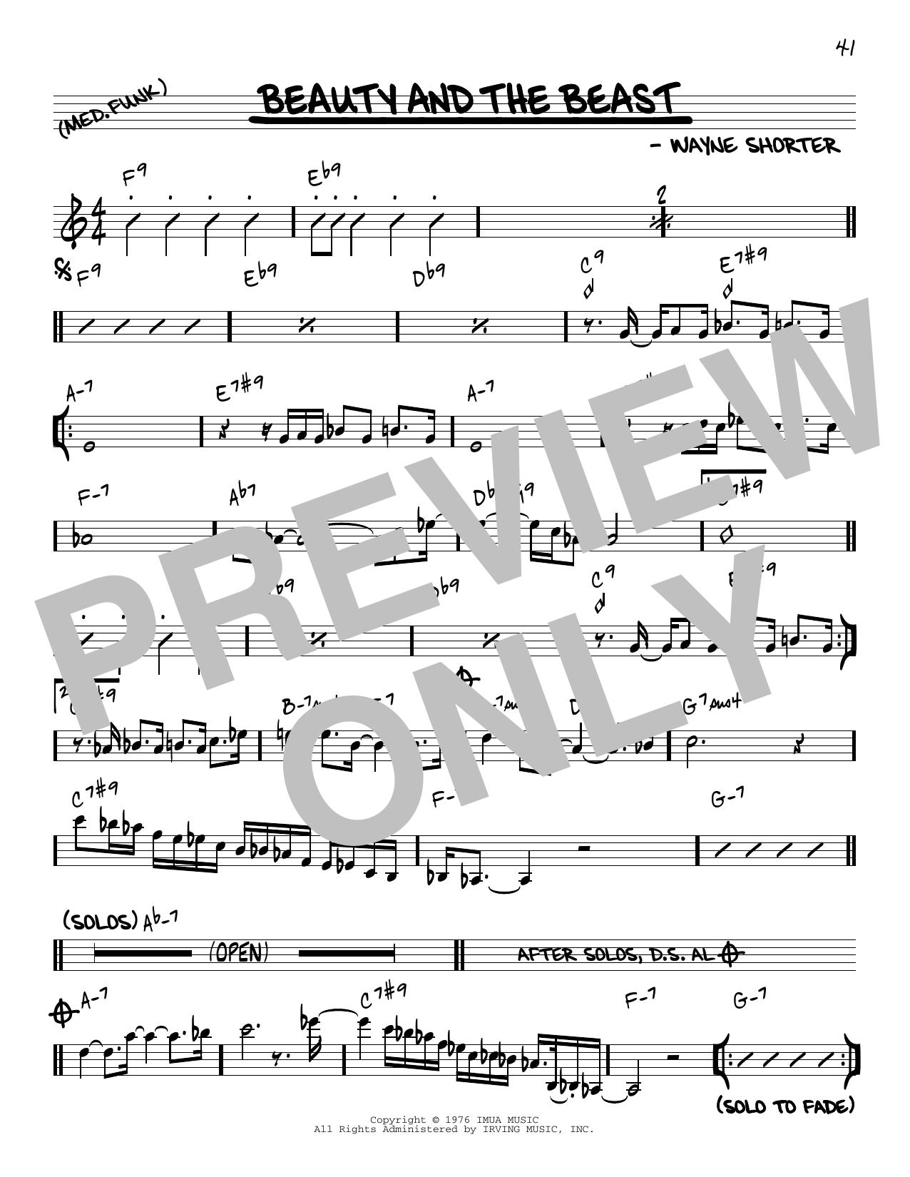 Wayne Shorter Beauty And The Beast [Reharmonized version] (arr. Jack Grassel) sheet music notes printable PDF score