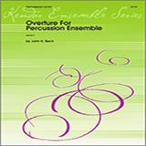 Beck Overture For Percussion Ensemble - Full Score Sheet Music and Printable PDF Score   SKU 324077