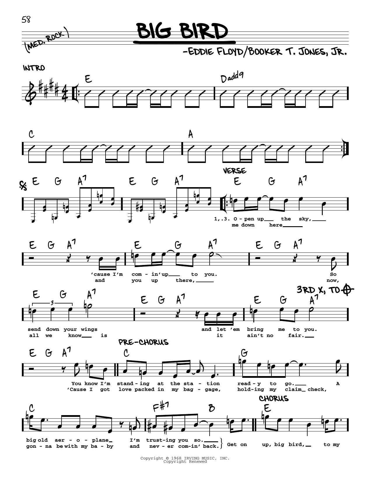 Booker T. Jones, Jr. Big Bird sheet music notes printable PDF score