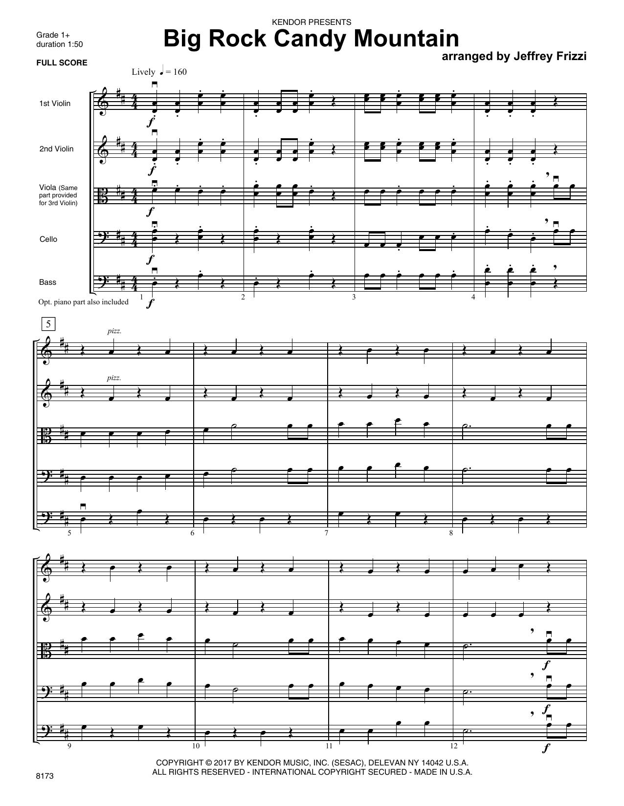Jeffrey Frizzi Big Rock Candy Mountain - Full Score sheet music notes printable PDF score