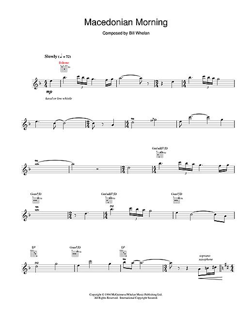 Bill Whelan Macedonian Morning (from Riverdance) sheet music notes printable PDF score