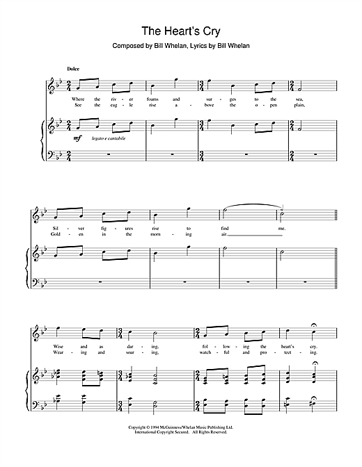 Bill Whelan The Heart's Cry (from Riverdance) sheet music notes printable PDF score