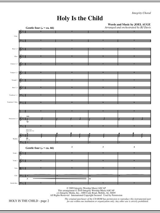 BJ Davis Holy Is The Child - Full Score sheet music notes printable PDF score