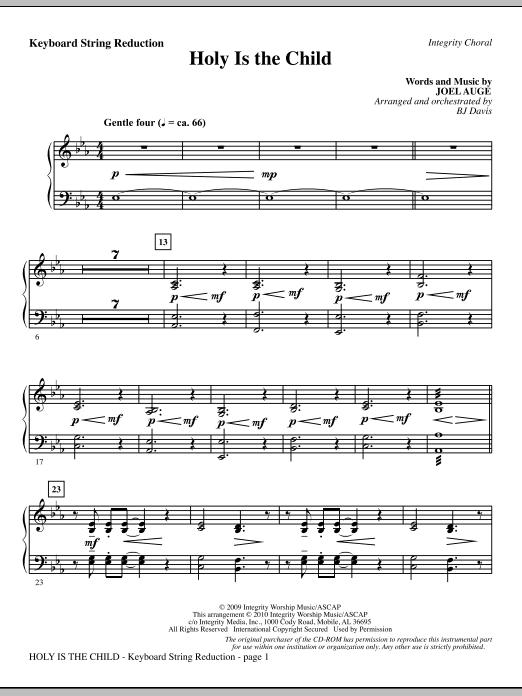 BJ Davis Holy Is The Child - Keyboard String Reduction sheet music notes printable PDF score