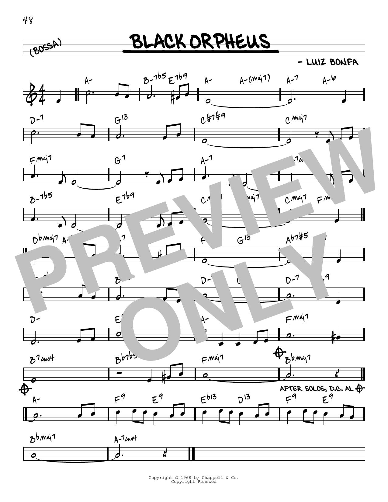 Luiz Bonfa Black Orpheus [Reharmonized version] (arr. Jack Grassel) sheet music notes printable PDF score
