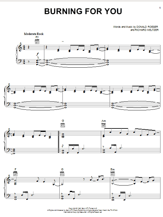 Blue Oyster Cult Burning For You sheet music notes and chords. Download Printable PDF.