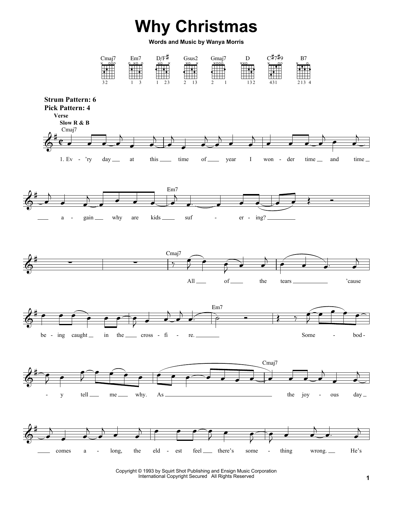 Boyz II Men Why Christmas sheet music notes and chords. Download Printable PDF.