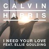 Download or print Calvin Harris I Need Your Love (feat. Ellie Goulding) Digital Sheet Music Notes and Chords - Printable PDF Score