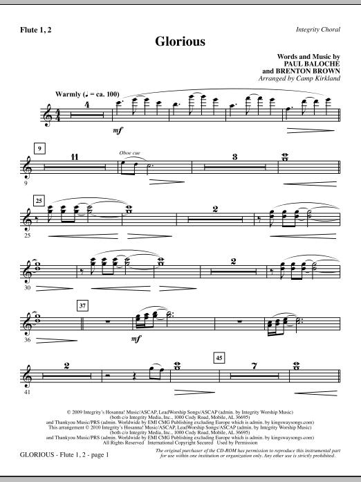 Camp Kirkland Glorious - Flute 1 & 2 sheet music notes printable PDF score
