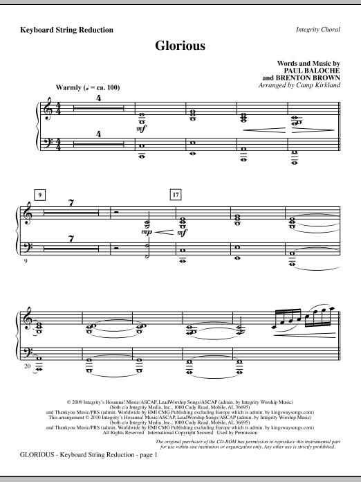 Camp Kirkland Glorious - Keyboard String Reduction sheet music notes printable PDF score
