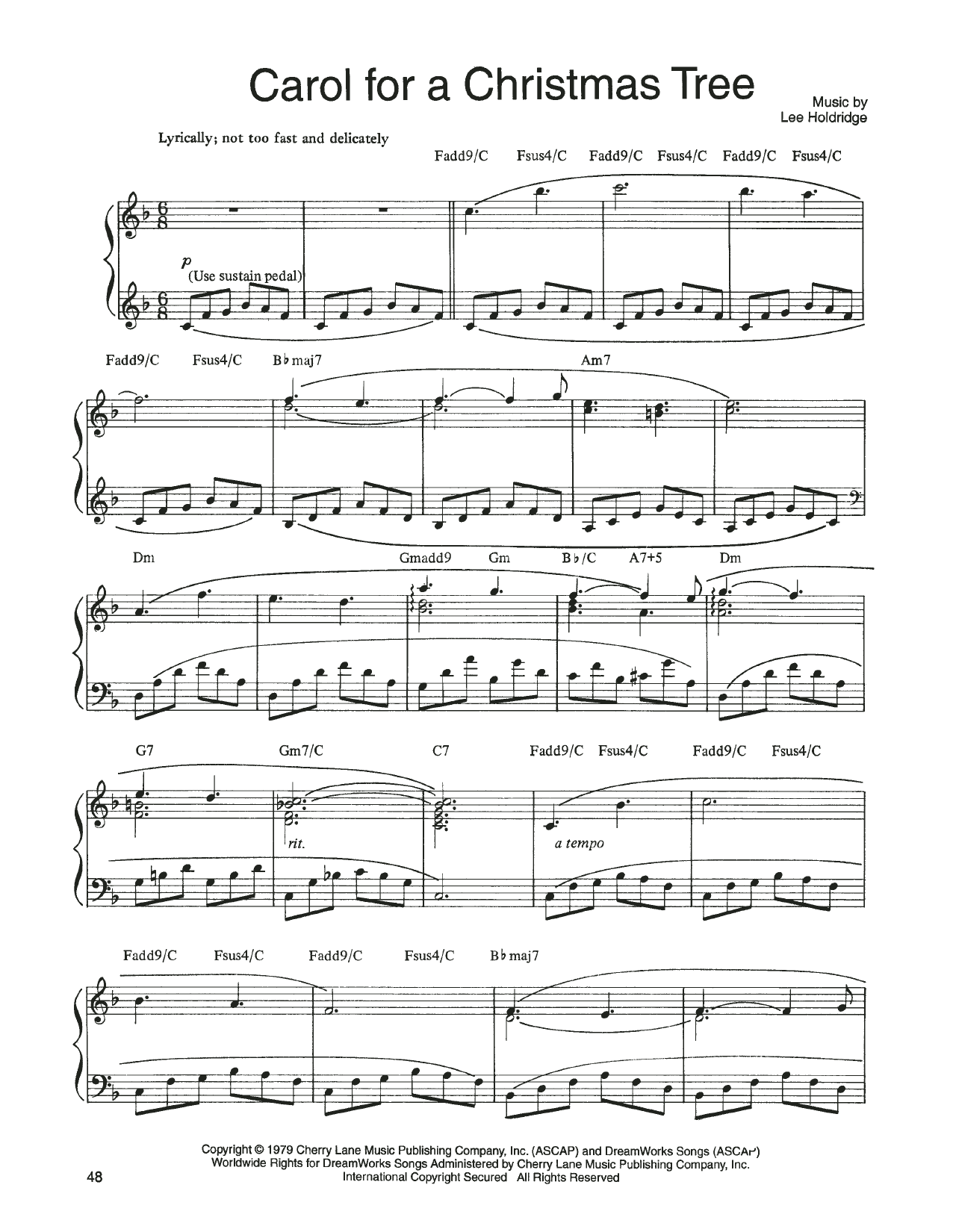 John Denver and The Muppets Carol For A Christmas Tree (from A Christmas Together) sheet music notes printable PDF score
