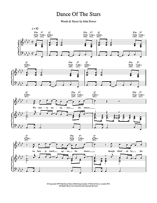 Cast Dance Of The Stars sheet music notes printable PDF score