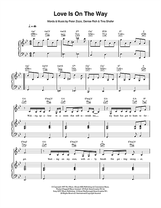 Celine Dion Love Is On The Way sheet music notes printable PDF score