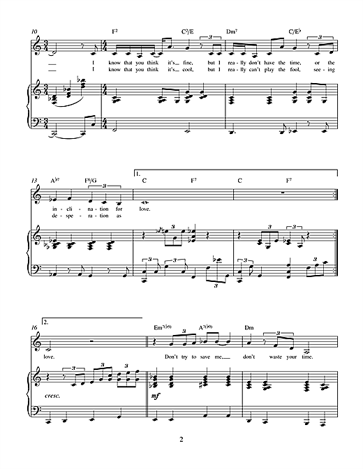 Charles Miller & Adam Bard Inclination For Love (from Theatrical Love) sheet music notes printable PDF score