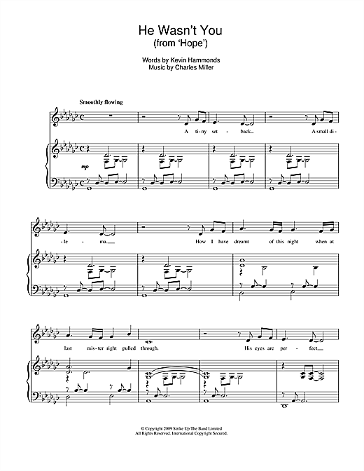 Charles Miller & Kevin Hammonds He Wasn't You (from Hope) sheet music notes printable PDF score