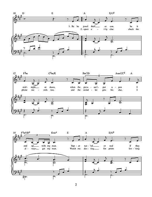 Charles Miller & Kevin Hammonds I Always Get My Man (from Brenda Bly: Teen Detective) sheet music notes printable PDF score