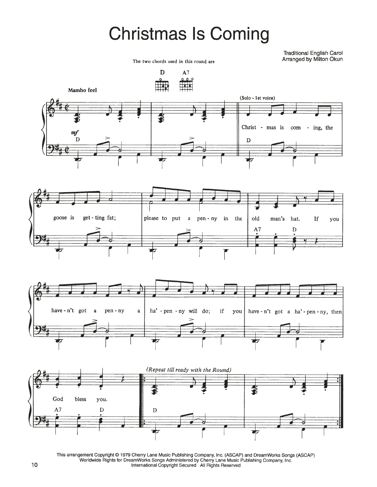 John Denver and The Muppets Christmas Is Coming (from A Christmas Together) sheet music notes printable PDF score
