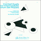 Houllif Contest Duets For Intermediate Drum Set Players Sheet Music and Printable PDF Score   SKU 124850