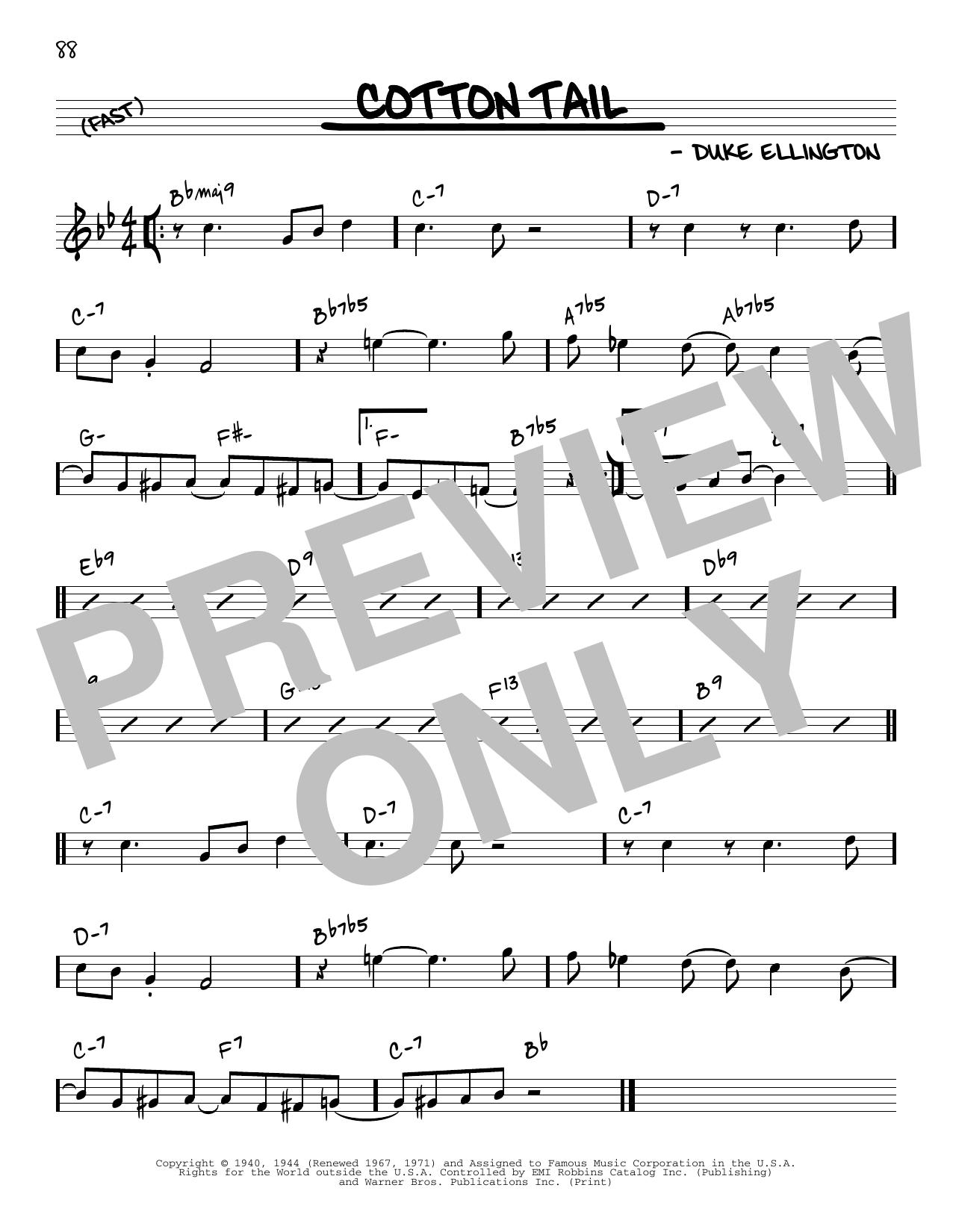 Duke Ellington Cotton Tail [Reharmonized version] (arr. Jack Grassel) sheet music notes printable PDF score