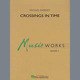 Michael Sweeney Crossings In Time - Bb Clarinet 2 Sheet Music and Printable PDF Score   SKU 346080