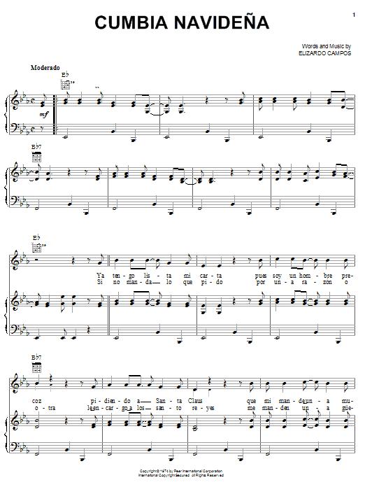 Elizardo Campos Cumbia Navideña sheet music notes printable PDF score