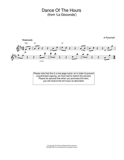 Amilcare Ponchielli Dance Of The Hours (from La Gioconda) sheet music notes printable PDF score