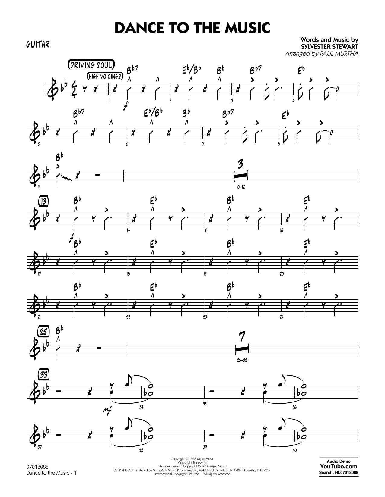 Paul Murtha Dance to the Music - Piano sheet music notes printable PDF score