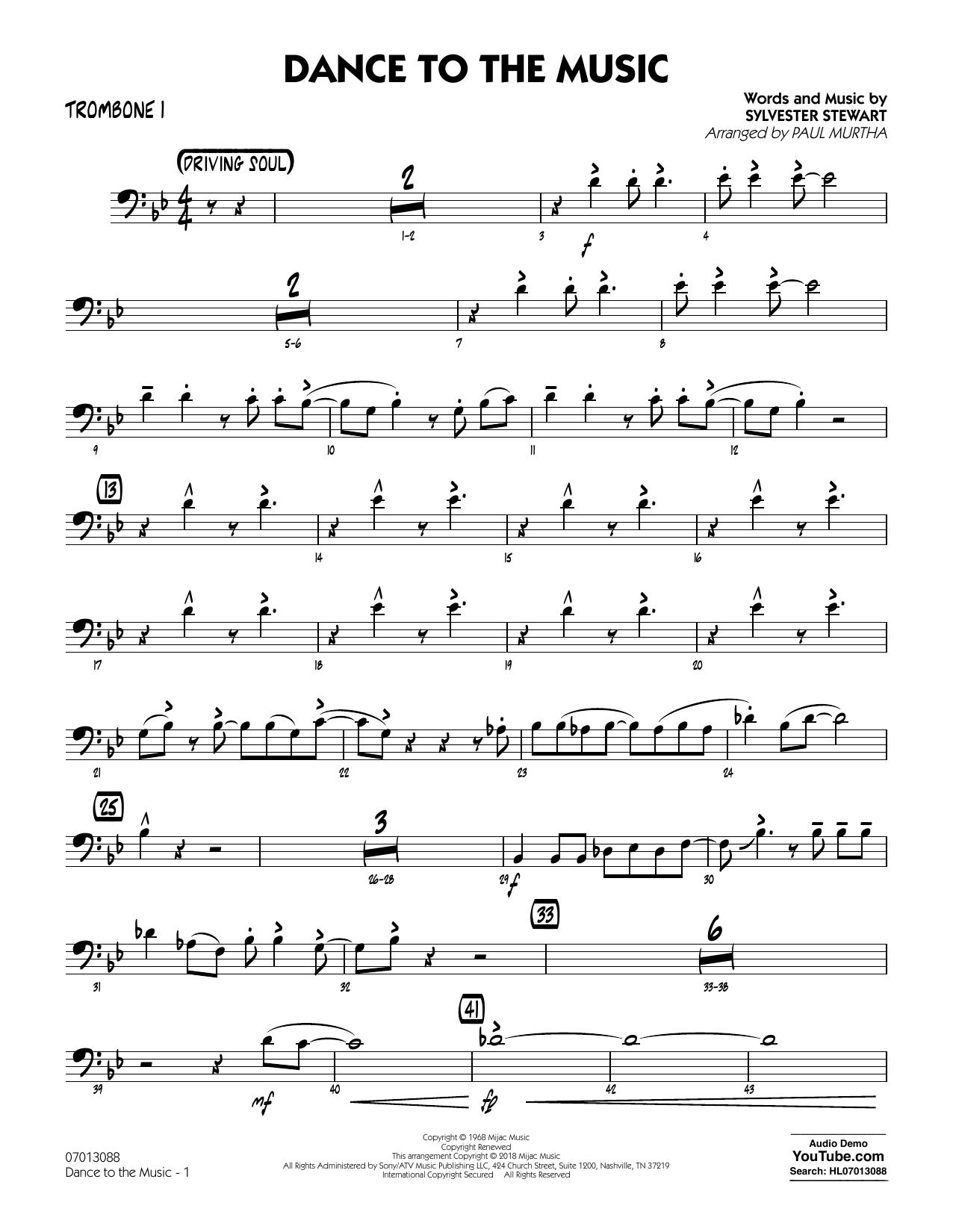 Paul Murtha Dance to the Music - Trombone 2 sheet music notes printable PDF score