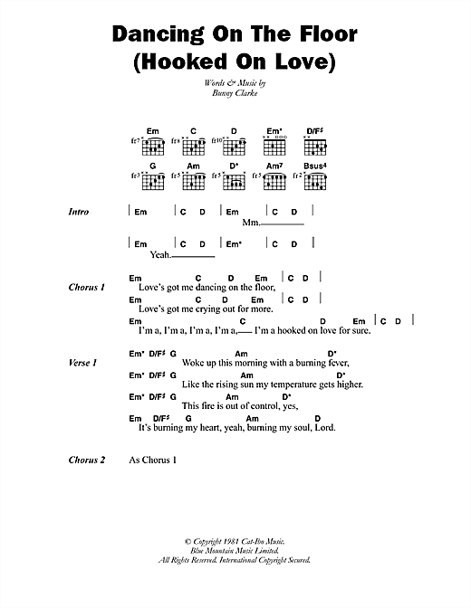 Third World Dancing On The Floor (Hooked On Love) sheet music notes printable PDF score
